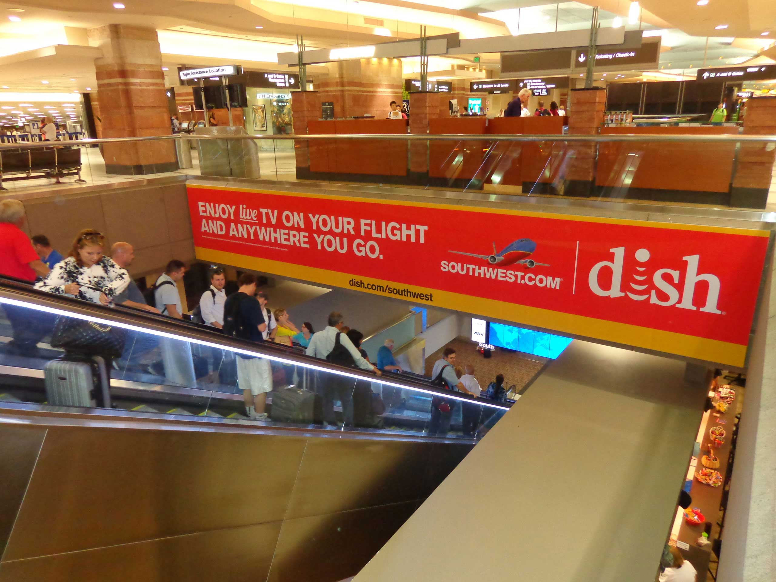 Phoenix Airport Signage Signature Escalator Wall Banners
